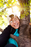 Teenager on the Tree Royalty Free Stock Photography