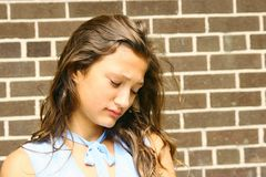 Teenager triste Fotografia Stock