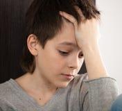 Teenager triste Fotografia Stock Libera da Diritti