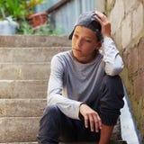 Teenager triste all'aperto Immagine Stock Libera da Diritti
