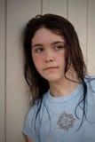 Teenager triste depresso Immagini Stock Libere da Diritti
