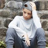 Teenager triste infelice all'aperto Fotografia Stock Libera da Diritti