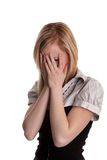 Teenager troubled - Blonde girl Stock Image