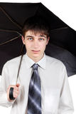 Teenager with Umbrella Stock Photography