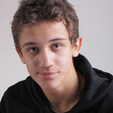 Teenager und Akne Lizenzfreie Stockfotos