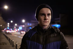 Teenager in urban environment Stock Image