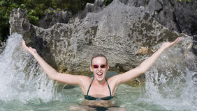 Teenager on vacation - Fiji Royalty Free Stock Image