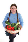 Teenager with vegetables Royalty Free Stock Images
