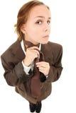 Teenager in vestito rigonfio Immagine Stock Libera da Diritti