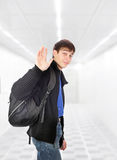 Teenager wave goodbye Royalty Free Stock Photos