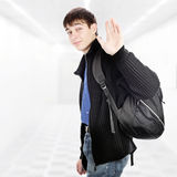 Teenager wave Goodbye Royalty Free Stock Image