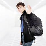 Teenager wave Goodbye Royalty Free Stock Image