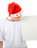 Teenager with White Board Royalty Free Stock Images