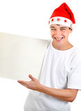 Teenager with White Board Royalty Free Stock Photo