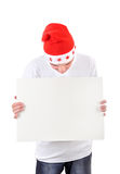 Teenager with White Board Stock Photos