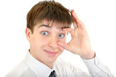 Teenager with a Wide Eye Royalty Free Stock Image