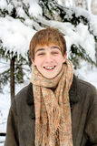 Teenager in winter Stock Image