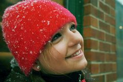 Teenager in winter Royalty Free Stock Photo