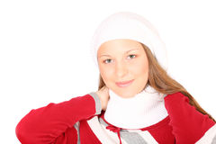 Teenager in winter clothes Stock Images