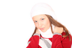 Teenager in winter clothes Royalty Free Stock Image