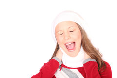 Teenager in winter clothes Stock Photo