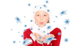 Teenager in winter clothes Royalty Free Stock Photography