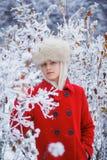Teenager winter girl Stock Photos