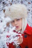 Teenager winter girl Stock Photography