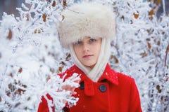 Teenager winter girl Stock Image