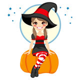 Teenager Witch Royalty Free Stock Images