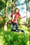 Teenager woman jumpin Stock Image
