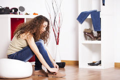 Teenager woman Studio Stock Photo