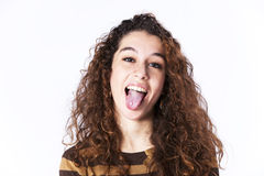 Teenager woman Studio Stock Photo