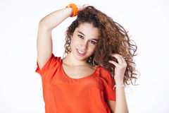 Teenager woman Studio Royalty Free Stock Image