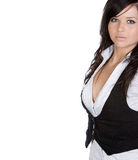 Teenager in Work Attire with White Copyspace Royalty Free Stock Photos