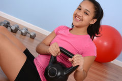Teenager Workout Royalty Free Stock Images