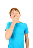 Teenager yawn. Kid Yawning Isolated on the White Background Stock Photos