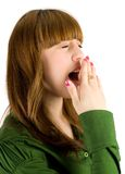 Teenager yawning Royalty Free Stock Photo