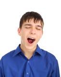 Teenager yawning Stock Images