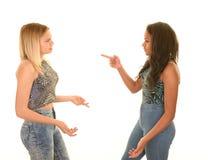 Teenagerargumentierung stockbilder