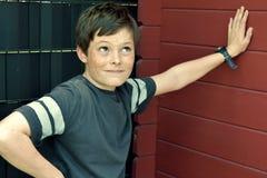 Teenagerboy con las pecas Foto de archivo