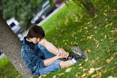 Teenagerprobleme Stockfotos