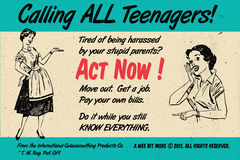 Teenagers Act Now! Retro Vintage Poster Royalty Free Stock Photo