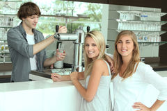 Teenagers in bar Stock Photography