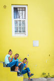 Teenagers at Bo Kaap neighborhood, Cape Town Stock Photography