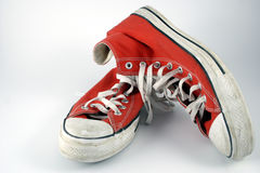 Teenagers boots red Stock Photos