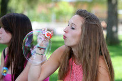 Teenagers bubble Royalty Free Stock Image