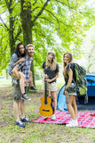 Teenagers at the camp Royalty Free Stock Photography
