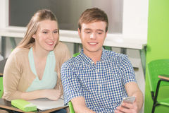 Teenagers in the collage Royalty Free Stock Image