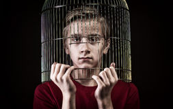 Teenager's communication problem concept Stock Photo
